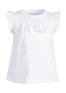 First Impressions Baby Girls Cotton Eyelet Ruffle T-Shirt, Created for Macy's
