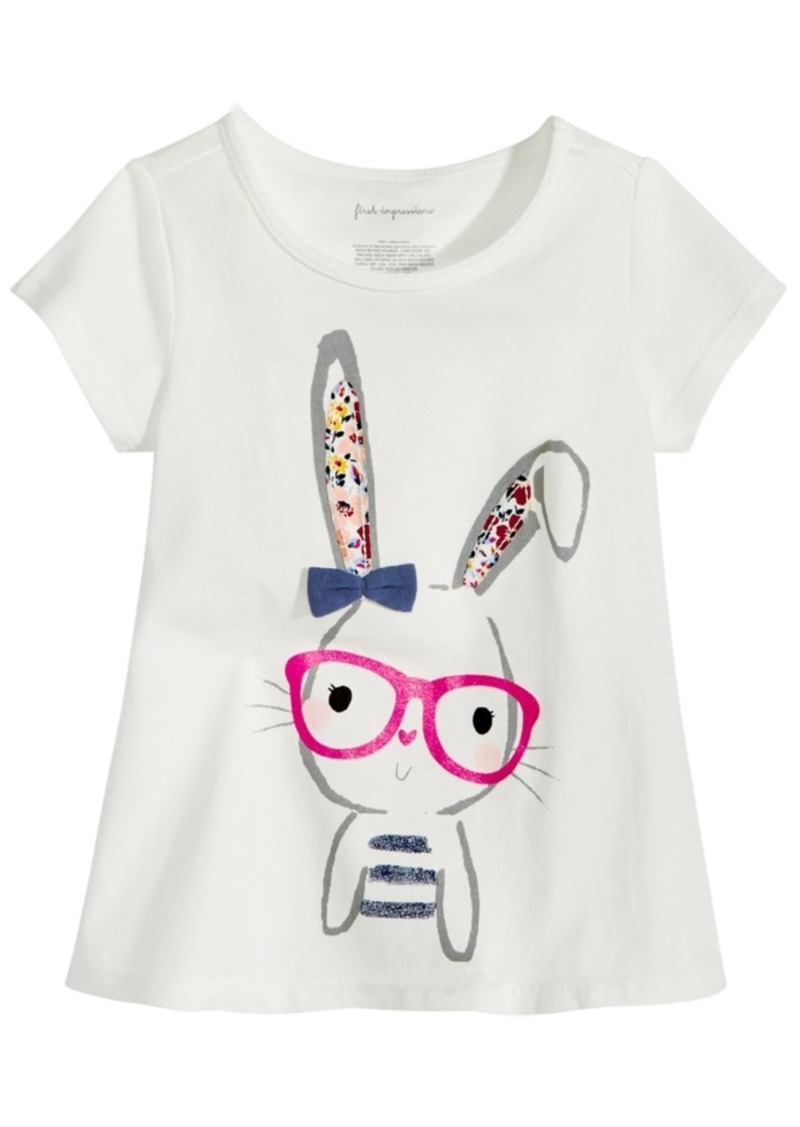 df1068db3 Baby Girls Graphic-Print Cotton T-Shirt, Created for Macy's. First  Impressions