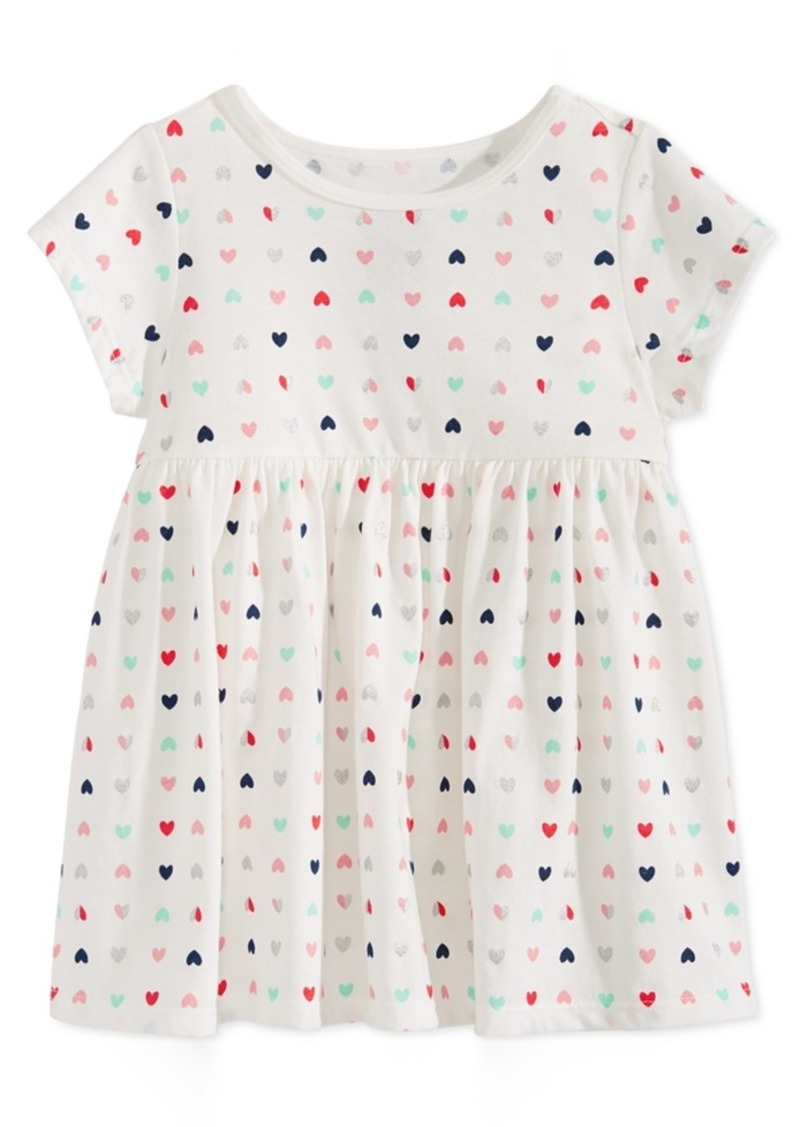 3728c467f First Impressions Toddler Girls Heart-Print Cotton Tunic, Created for Macy's