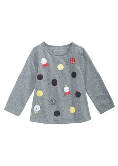 First Impressions Baby Girls Long-Sleeve Dot-Print T-Shirt, Created for Macy's
