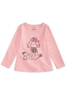 First Impressions Toddler Girls Poodles-Print Cotton T-Shirt, Created for Macy's