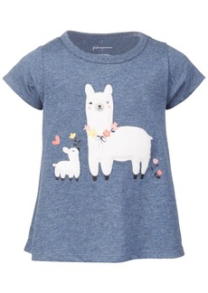 First Impressions Baby Girls Short Sleeve Llama Tee, Created for Macy's