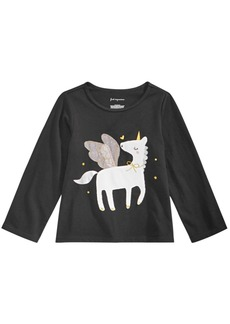 First Impressions Baby Girls Unicorn-Print Cotton T-Shirt, Created for Macy's