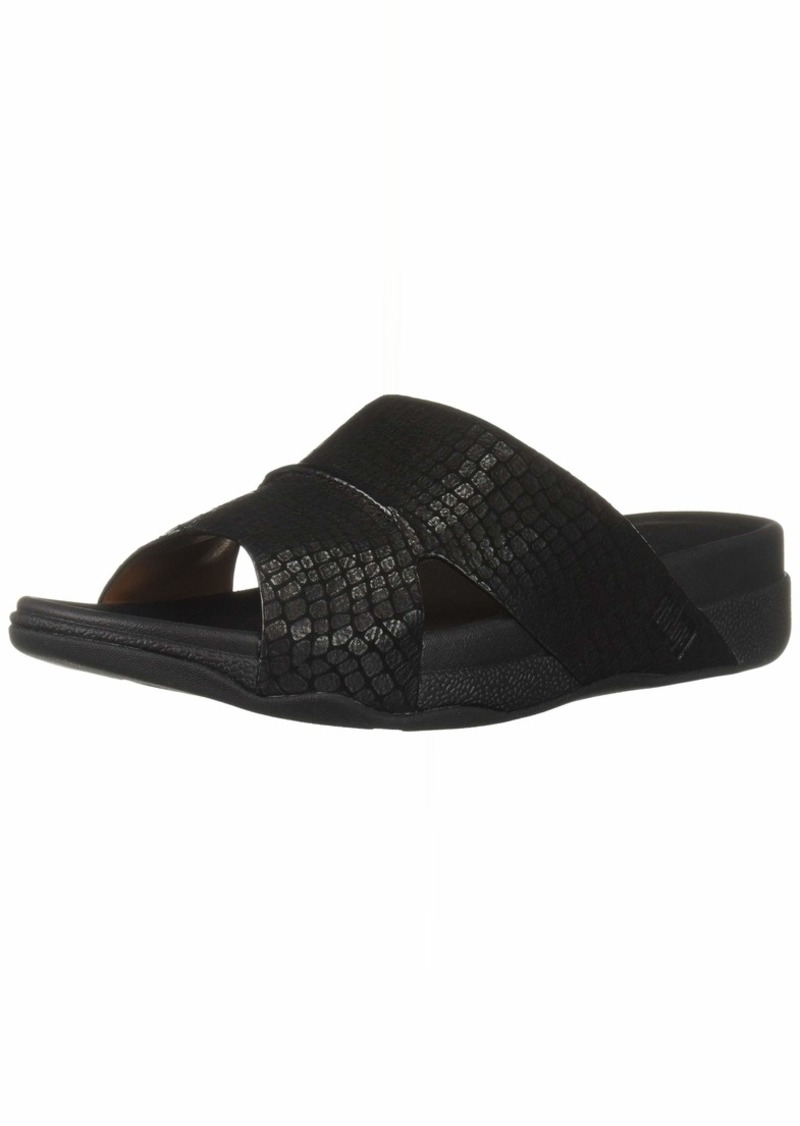 FITFLOP Men's Bando Croc-Emboss Slide Sandal   M US