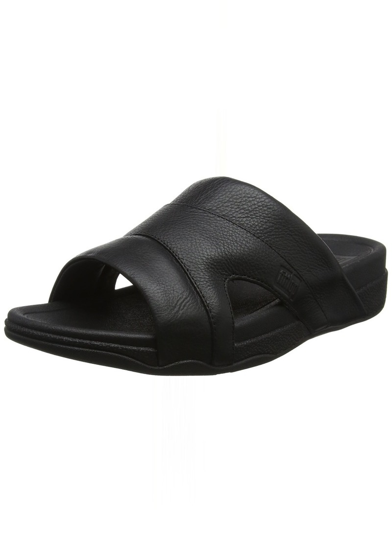 FitFlop Men's Freeway Pool Slide in Leather Sandal  8 M US