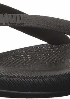 FitFlop Men's IQUSHION Ergonomic FLIP-Flops black  M US