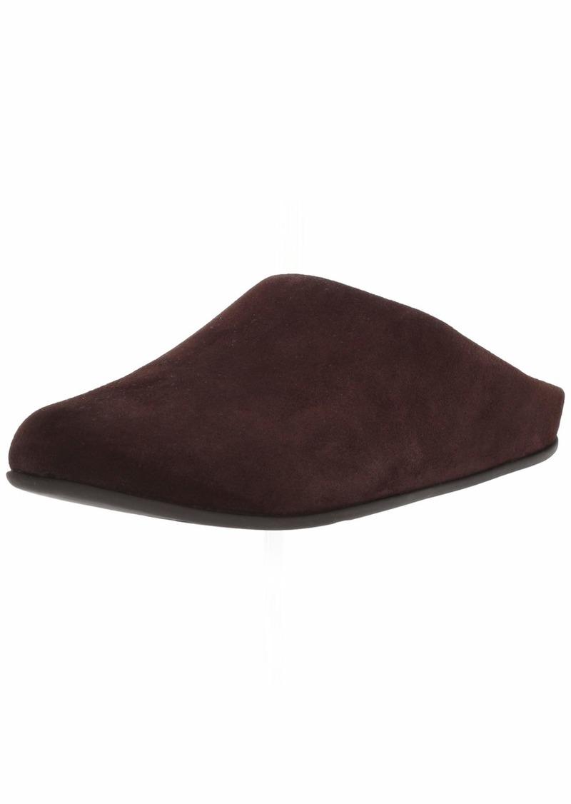FitFlop Men's Shove Mule Leather Slipper   Medium US