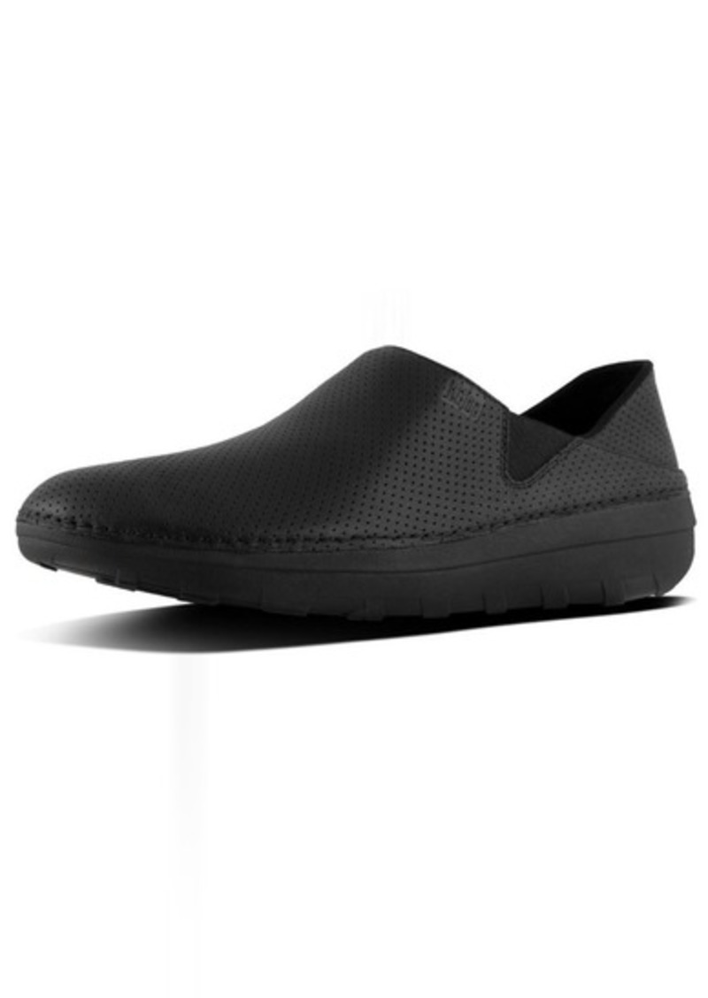 FITFLOP Men's SUPERLOAFER in Perforated Leather Medical Professional Shoe   M US