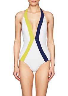 Flagpole Swim Women's Jade Colorblocked One