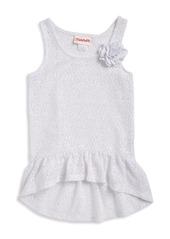 FLAPDOODLES Girls 2-6x Crochet Cover-Up Dress