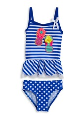 FLAPDOODLES Girls 2-6x Flip Flop Tankini Swimsuit Set