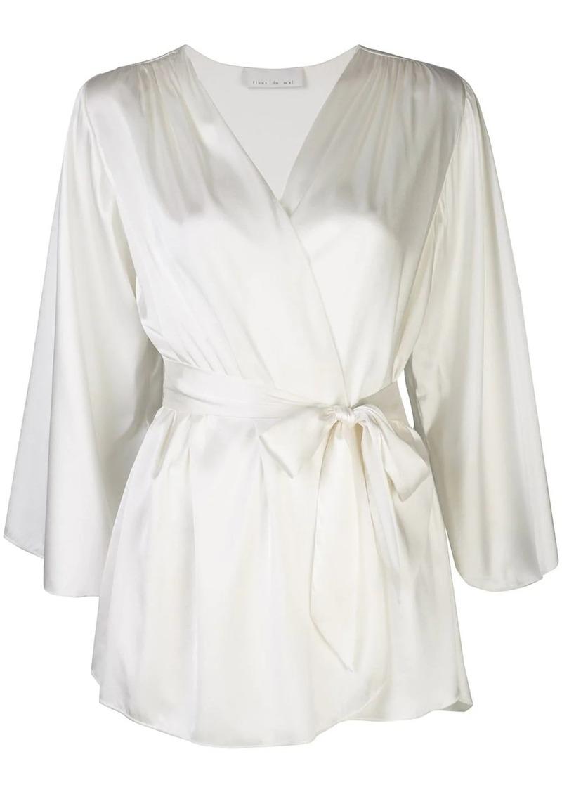 Angel silk robe