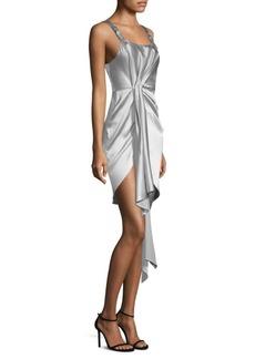 Fleur Du Mal Asymmetrical Cascade Cocktail Dress