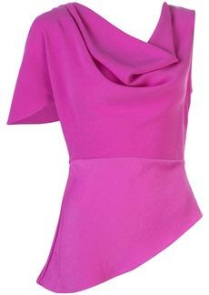 Fleur Du Mal asymmetrical cowl-neck blouse