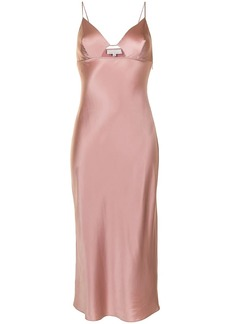 Fleur Du Mal fitted silk slip dress