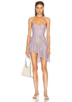 fleur du mal Asymmetrical Bustier Dress