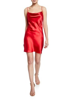 Fleur Du Mal Cowl-Neck Short Slip Dress