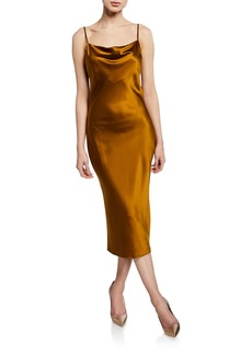 Fleur Du Mal Cowl-Neck Slip Dress