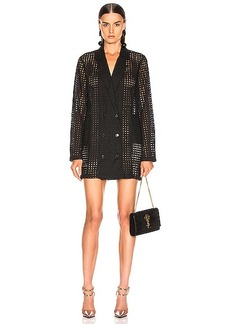 fleur du mal Eyelet Blazer Dress with Slip