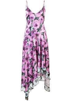 Fleur Du Mal floral handkerchief dress - Pink & Purple