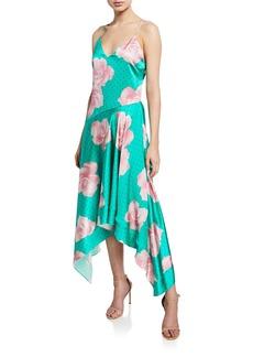 Fleur Du Mal Floral-Print Handkerchief Dress