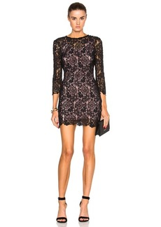 fleur du mal Guipure Lace Mini Dress