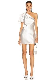 fleur du mal One Shoulder Bias Mini Dress
