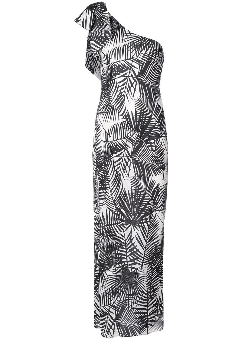 Fleur Du Mal palms print single-shoulder dress