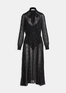 Fleur du Mal Embroidered Dress With Bodysuit