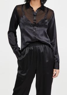 Fleur du Mal Silk Bra Detail Shirt
