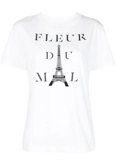 Fleur Du Mal Kiss Me In Paris logo-print T-shirt