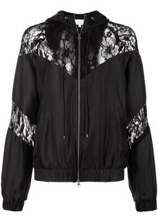 Fleur Du Mal lace detail track jacket
