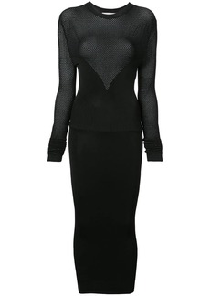 Fleur Du Mal long sleeve knit dress