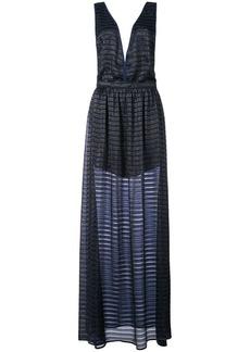 Fleur Du Mal lurex stripe gown