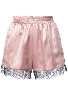 Fleur Du Mal Margo lace trim shorts