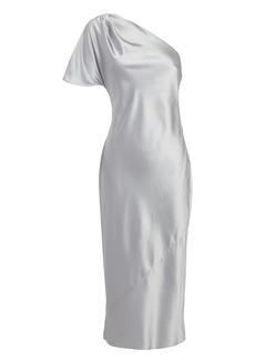 Fleur Du Mal One Shoulder Midi Dress