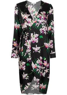 Fleur Du Mal orchid-print wrap dress