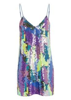 Fleur Du Mal Pastel Sequin Slip Mini Dress