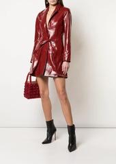 Fleur Du Mal patent wrap dress