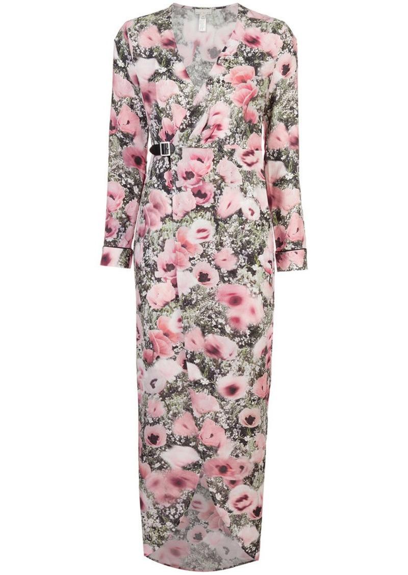 Fleur Du Mal poppy print wrap maxi dress