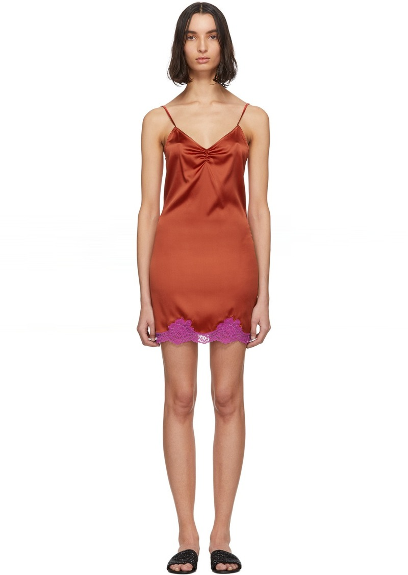 Fleur Du Mal Red James Slip Dress