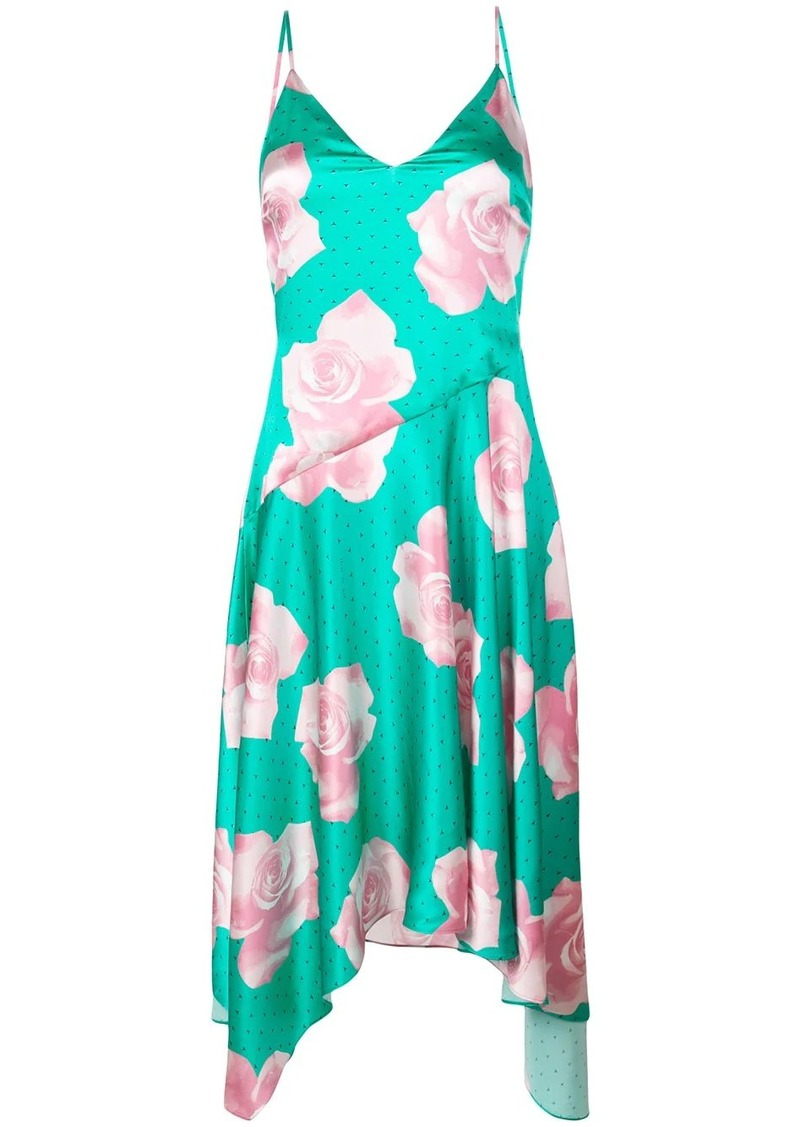 Fleur Du Mal rose print midi dress