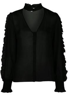 Fleur Du Mal ruffle-trimmed silk blouse