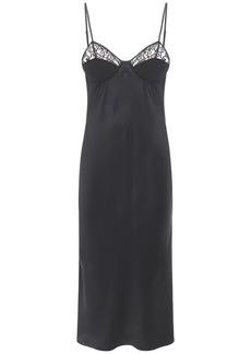 Fleur Du Mal Silk & Lace Slip Dress