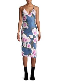 Fleur Du Mal Silk Floral Slip Dress