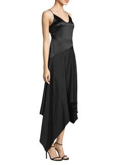 Fleur Du Mal Silk Handkerchief Dress
