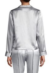 Fleur Du Mal Silk Pajama Top