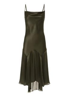 Fleur Du Mal Teardrop Slip Midi Dress