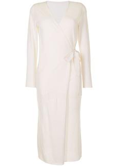 Fleur Du Mal wrap cashmere midi robe