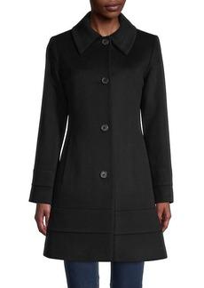 Fleurette Button-Front Wool Jacket